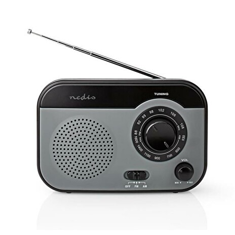 Rádio NEDIS RDFM1340GY GREY/BLACK