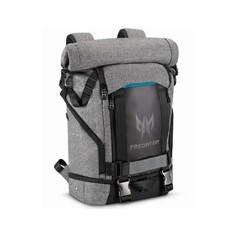 "PREDATOR GAMING ROLLTOP BACKPACK 15,6"" GRAY BLACK with Blue Accent (RETAIL PACK)"